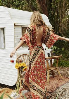 SHOP Spell Design's Cutout Maxi Dress at White Bohemian Store - https://www.whitebohemian.com.au/collections/spell-designs/products/lolita-cutout-maxi-dress-campfire Spell and the Gypsy Collective 2017 Festival Range feauturing muse Annalise Mclachlan! Perfect festival outfit attire