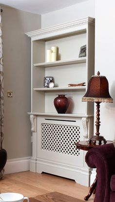 radiator shelves for powder room