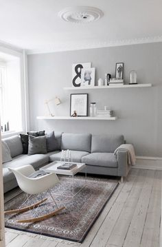10 Genius Decorating Tips To Make Your Rental Apartment Suck Less. Wall  Behind CouchShelving Behind CouchLiving Room ...