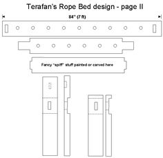 Plans for same bed.  ropebed2.gif (9224 bytes)