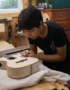 Ukulele Building Workshop Aug 2014 at Lichty Guitars, taught by Tryon NC luthier Jay Lichty