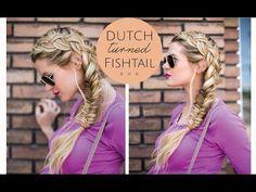 Vídeo tutorial de trenza holandesa lateral acabada en espiga por Barefoot Blonde
