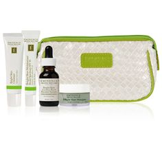 Eminence Bright Skin Starter Set is beautifully packaged with a one-month's supply of targeted organic products to treat uneven skin types.