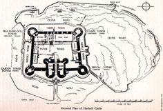 Harlech Castle, Ground Plan (1502×1030)
