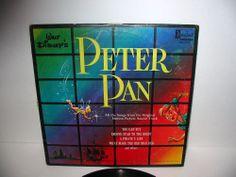 Vtg 1963 Walt Disney's PETER PAN Disneyland Vinyl 33 1/3 LP DLP Free S/H USA