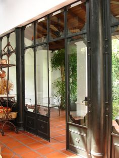 casa antigua reciclada - Buscar con Google Steel Frame Doors, Rustic Design, Windows And Doors, Steel Windows, Terrazzo, Architecture Details, Home Deco, Interior And Exterior, Ideal Home