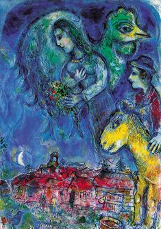 Marc Chagall  French, born Belorussia, 1887 ‑ 1985  Waiting (L'Attente), 1967  Oil on canvas  36 3/8 × 25 5/8 × 7/8 in. (92.4 × 65.1 × 2.2 cm.)  Bequest from the Nancy Batson Rash and Dillman A. Rash Collection  1998.19.1  Speed Museum, Louisville, KY