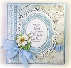 Easter Card designed by Linda Duke using Easter Blessings!!!