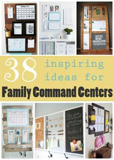 38 Inspiring Ideas for Family Command Centers - Tipsaholic Family Organization Wall, Organization Station, Home Organisation, Family Organizer, Life Organization, Command Center Kitchen, Family Command Center, Command Centers, Kitchen Message Center