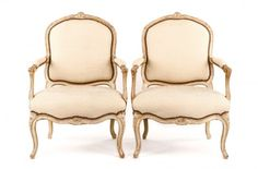 Pair of Distressed Gustavian Style Armchairs : Lot 1047