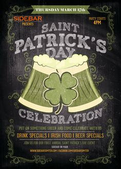 Make Your Plans to Join us for St. Paddy's Day at Sidebar!! » SIDEBARSUMTER