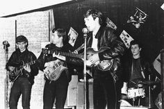 The Beatles sporting leather jackets before Ringo was in the band