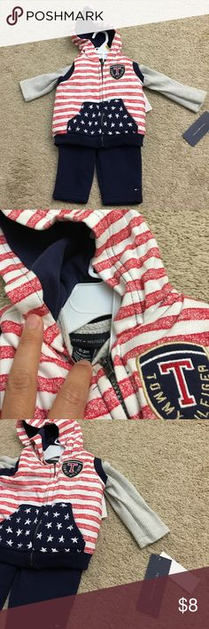 NWT Tommy Hilfiger baby boy 3 piece set Brand new! Tommy Hilfiger Matching Sets