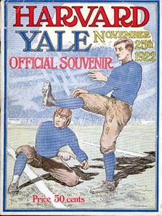 Yale vs. Harvard program    #yale #harvard #vintage #football