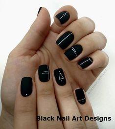 blacknails naildesign simple design black ideas nail art 20 20 Simple Black Nail Art Design Ideas 20 Simple Black Nail Art Design IdeasYou can find Black nails and more on our website Black Nail Designs, Short Nail Designs, Nail Art Designs, Cute Acrylic Nails, Matte Nails, My Nails, Stylish Nails, Trendy Nails, Chic Nails