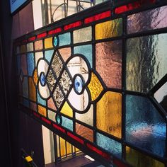 Met Rob from @glasskent yesterday at the #homebuildingandrenovatingshow We loved his beautiful stained glass and passion for his work! #stainedglass