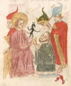 Weltchronik. Sibyllenweissagung. Antichrist  BSB Cgm 426, Bayern,  3. Viertel 15. Jh  Folio 134