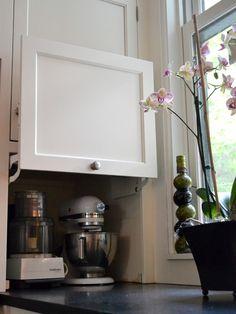 Hidden corner storage to hide ugly appliances