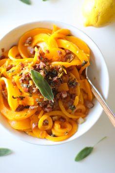 Butternut Squash and Prosciutto with Lemon Garlic and Sage   theroastedroot.net @roastedroot #glutenfree #pasta #recipe #paleo