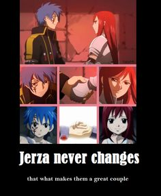 Fairy Tail (フェアリーテイル) - Jellal x Erza (Jerza) (*^_^*) Fairy Tail Love, Fairy Tail Ships, Fairy Tail Anime, Erza Et Jellal, Gruvia, Erza Scarlet, Nerd, Fariy Tail, Natsu And Lucy