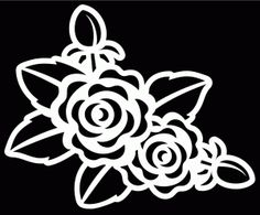 Rose Stencil by Bird
