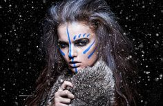 Gallery For Scottish Blue War Paint - scottish games face paint Tribal Warrior, Viking Warrior, Krieger Make-up, Maquillage Halloween, Halloween Face Makeup, Viking Makeup, Warrior Makeup, Tribal Face Paints, Tribal Makeup