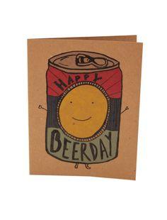 Jour /Beer drôle joyeux anniversaire / carte de voeux de Man - DesireeB