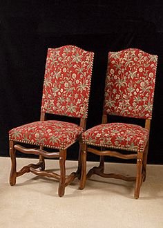 Set of 10 French Antique Os de Mouton Dining Chairs