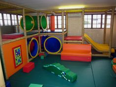 Indoor Toddler Soft #Playground #activity Panels and foam floor padding.
