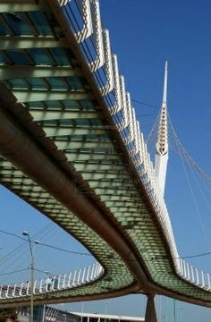 Modern Cable Bridge - Santiago Calatrava, Architect & Engineer.