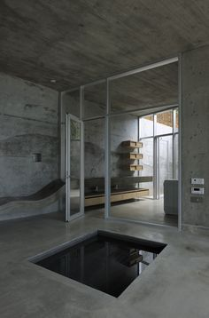 teeny tiny pool in my house. 'A' House in Kisami, Kisami, 2011 by Florian Busch Architects Bathroom Interior, Modern Bathroom, Design Bathroom, Interior Architecture, Interior And Exterior, Installation Architecture, Building Architecture, Shizuoka, Beautiful Bathrooms