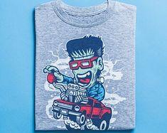 Frankenstein Skater Shirt - Graffiti Shirt, Comic Illustration, Skateboard T-Shirt, Street Art Apparel Skateboard ? Skater Shirts, T Shirts, Good Birthday Presents, Surf Shirt, Frankenstein, Vintage Shirts, Tshirts Online, Graffiti, Street Art