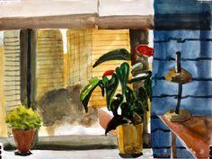 #Window, #Art, #Watercolor
