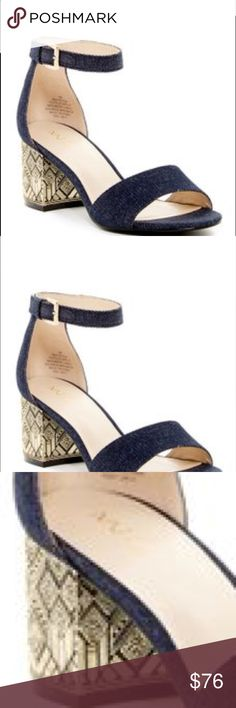 🌼Blk and gold sandal T strap blk and gold sandal by Nine West. Only tried on...super cute with box. No tag only tried on in home Nine West Shoes Sandals
