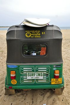 Tuk-tuk, Pottuvil Point, Sri Lanka (www.secretlanka.com) #SriLanka #ArugamBay