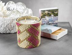 Candles & Home fragrance | zodax Pillar Candles, Candle Jars, Candle Holders, Best Smelling Candles, Decorative Accessories, Pink White, Hand Weaving, Home And Garden, Fragrance