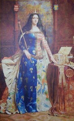 Victorian portrait of medieval Queen Jadwiga of Poland Elizabeth Bathory, Carmilla, European History, Women In History, Ancient History, Renaissance, Larp, Dark Ages, Interesting History