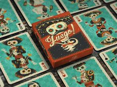 Fuego! - Day of the Dead Inspired Playing Cards Cool Playing Cards, Packaging Design Inspiration, Day Of The Dead, Project Yourself, Deck Of Cards, Card Games, Game Cards, Illustration, Gallery
