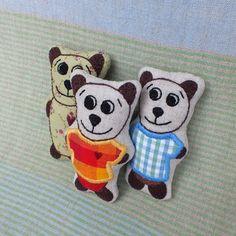 Tomík - medvídek do kapsy červenožlutý