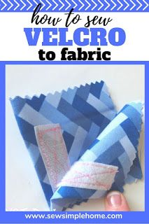 Learn how to sew velcro to fabric for bags, cases and other simple sewing projects.