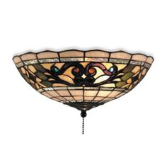Elk Lighting Buckingham Tiffany Ceiling Fan/Light Kit - BedBathandBeyond.com