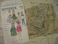 ORIGINAL doll clothes PATTERNS 3351 for TV's Samantha Tammy Jan Terry Suzie 60s