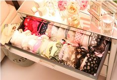 pretty way to store lingerie