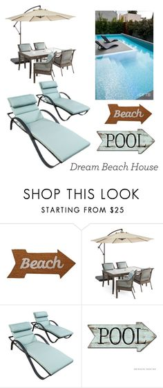 """Patio"" by bailey2k ❤ liked on Polyvore featuring interior, interiors, interior design, home, home decor, interior decorating, Mud Pie, Outdoor Oasis and RST Brands"