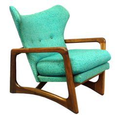 Nice...Atomic Age Turquoise Lounge Chair by Adrian Pearsall