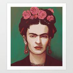 Frida Art Print by ravynka - $16.00
