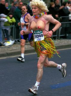 I know I shouldn't find this humorous, but I do!  I can imagine how sore he was after the race.  You can see how red his chest is!