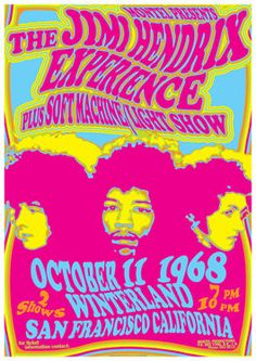 The Jimi Hendrix Experience & Soft Machine North American Tour 1968. Kevin Ayers left Soft Machine after this tour.