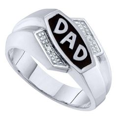 .001 Carat Mens Brilliant Round Diamond Father's Day Dad Ring
