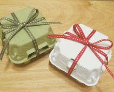 egg cartons as favor boxes - fill with Cadbury eggs for farm party